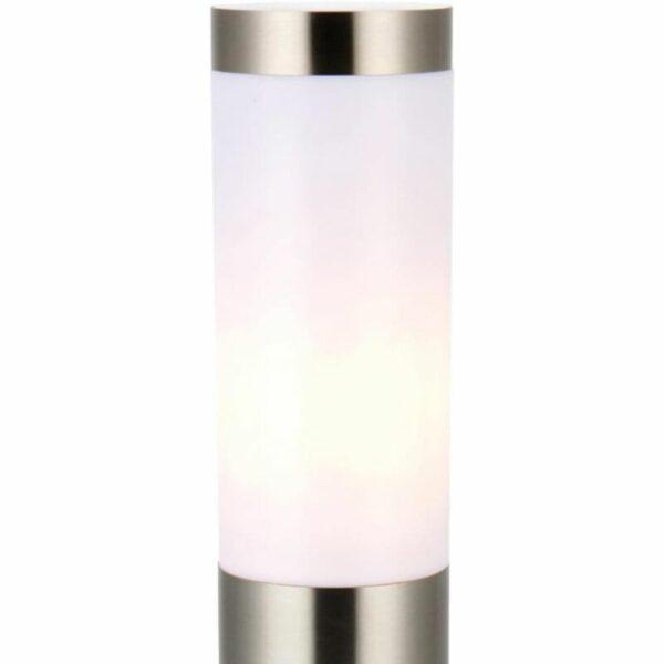 Set of 2 Brushed Stainless Steel 43cm Garden Post Lights