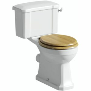 The Bath Co. Camberley close coupled toilet with soft close MDF seat
