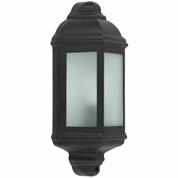 Traditional Aluminium Outdoor Garden Wall Mounted Lantern IP44 Light - 4W LED Candle Bulb - Warm White