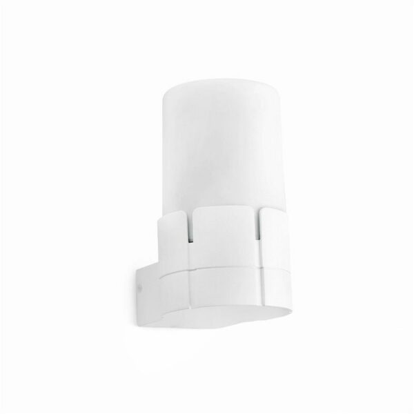 Tram 1-light white garden wall light