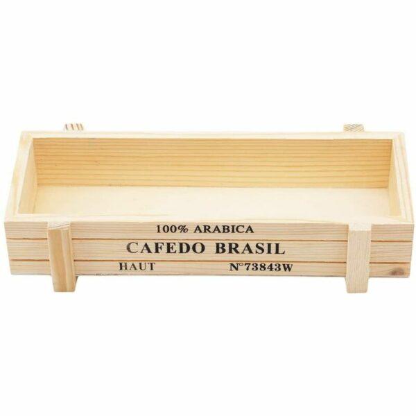 Wooden Storage Box, Rectangular Multifunctional Pot, Artificial Plant Flower Pots, Wood, Primary Color, 22.5 * 9.5cm
