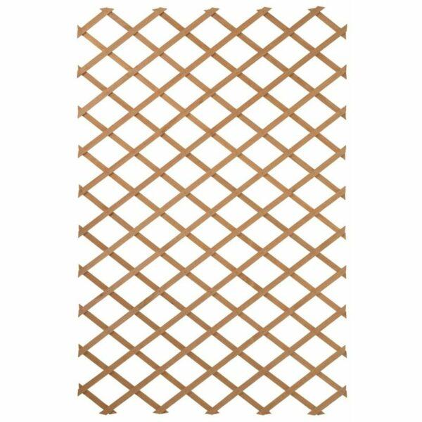 Zqyrlar - Nature Garden Trellis 100x200 cm Wood Natural 6041703 - Brown