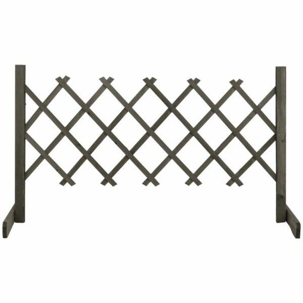 vidaXL Garden Trellis Fence Grey 120x60 cm Solid Firwood - Grey