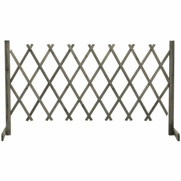 vidaXL Garden Trellis Fence Grey 150x80 cm Solid Firwood - Grey