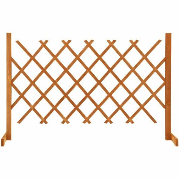 vidaXL Garden Trellis Fence Orange 120x90 cm Solid Firwood - Orange