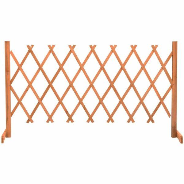 vidaXL Garden Trellis Fence Orange 150x80 cm Solid Firwood - Orange
