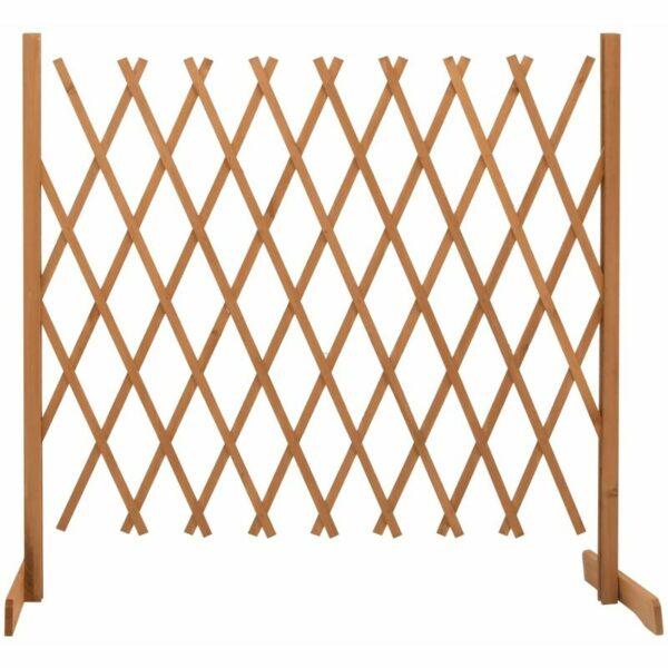 vidaXL Garden Trellis Fence Orange 180x100 cm Solid Firwood - Orange