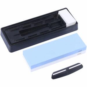1000/6000 Portable Premium Whetstone Cut Sharpening Stone Household Cutter Sharpener Non Slip Base Cutter Sharpener,model:Blue