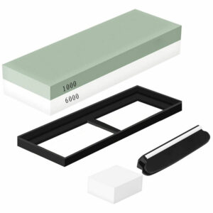 1000/6000 Portable Premium Whetstone Cut Sharpening Stone Household Cutter Sharpener Non Slip Base Cutter Sharpener,model:Green