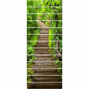 13PCS DIY Staircase Stickers Beautiful Scenery Pattern Self-Adhesive Stairway Decals Removable Staircase Steps Stickers for Home Staircase