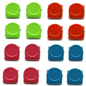 16pcs Metal Magnetic Clips, Magnets with Fridge Clips Magnetic Clip for Photos, Notes, Cards, Home Office Supplies - 4 colors