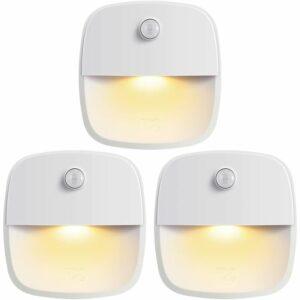 Briday - (Upgraded Version) Motion Sensor Light, Cordless Battery-Powered LED Night Light, Wall Light, Closet Lights, Safe Lights for Stairs,