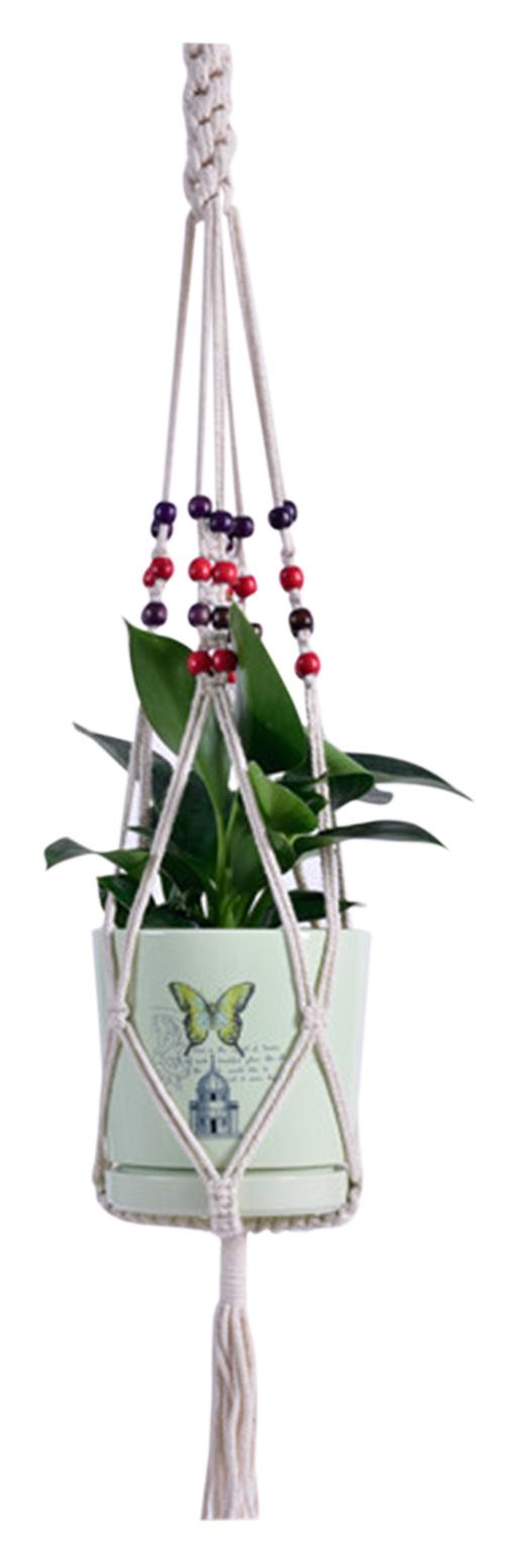 Macrame Plant Hanger Decorative Flower Pot Holder Indoor Outdoor Hanging Planter Basket Cotton Rope Home Decor,model: Type 3