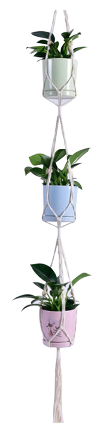 Macrame Plant Hanger Decorative Flower Pot Holder Indoor Outdoor Hanging Planter Basket Cotton Rope Home Decor,model: Type 6
