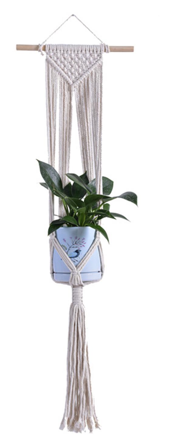 Macrame Plant Hanger Decorative Flower Pot Holder Indoor Outdoor Hanging Planter Basket Cotton Rope Home Decor,model: Type 9